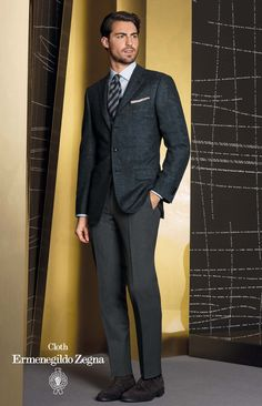 Sacou din tesatura Zegna, colectia Heritage, compozitie 95% Wool – 5% Cashmere  Pantalon: Cotton 100%, 350/370 gr.
