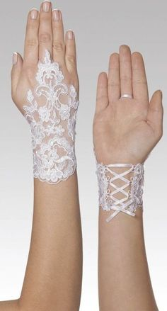33 beautiful hand accessories to complement your wedding dress. Choosing bridal accessory The most important accessory that completes the wedding dress is shoes. Specially designed shoes, which are colored w. Hand Accessories, Bridal Accessories, Bridal Lace, Lace Wedding, Bridal Gown, Wedding Gloves, Lace Gloves, Fingerless Gloves, Hand Jewelry