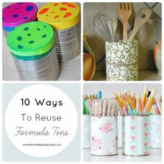 As I was doing my usual nightly peruse through my Facebook feed, I saw someone asking for ideas of what they could do with old formula tins. My suggestion to them was to use it as a plastic bag dispenser or as a toddler activity where they can pop coloured pom poms through a hole …