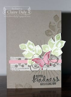 We love this beautiful card made with the Kinda Eclectic stamp set.