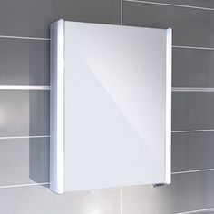 Ora single door illuminated mirror cabinet. This mirror cabinet is manufactured from high quality materials and uses 15w LED tube lights. An interior shelf maximises the storage capabilities of this Ora cabinet.    View This Product's Installation Ins