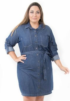 Plus Size Jeans, Vestidos Plus Size, Camisa Formal, Looks Plus Size, Ideias Fashion, Shirt Dress, Shirts, Dresses, Maxi Styles