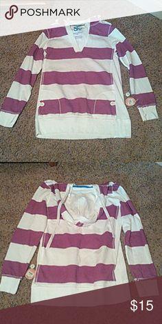 Sweatshirt hoodie Purple and white, brand new SO Tops Sweatshirts & Hoodies