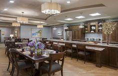 Senior Living Designed by Faulkner Design Group  #diningroom #diningtable #luxury #faulknerdesigngroup #interiordesign #seniorliving
