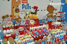 AZUCAR FLOR party studio: LA VIDA SECRETA DE TUS MASCOTAS 2nd Birthday Party Themes, Kids Party Themes, First Birthday Parties, Pets Movie, Festa Toy Story, Animal Birthday, Animal Party, Secret Life, Kids Part