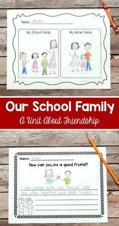 """I use this """"Our School Family"""" unit at the beginning of each school year. The lessons and activities teach students to get along and solve problems together. I teach them that our class at school is a type of family, too! $"""