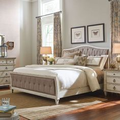American Drew Southbury Upholstered Bed, Size: California King - 513-317R