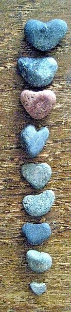 Collect heart shaped rocks - keep one from each trip!