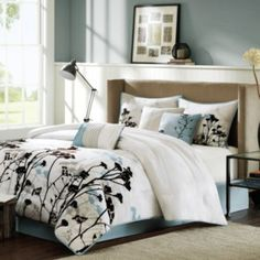 "<p>The fresh style of the Kira comforter set renews your favorite space with a delicate floral design.</p><div style=""page-break-after: always;""><span style=""display: none;"">   Master bedroom..."