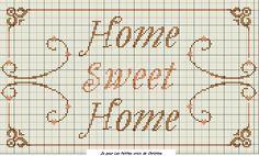 Grille 93 : HOME SWEET HOME - les petites croix de Christine