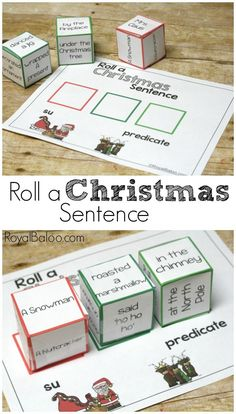 Sillness abounds! Make reading and writing fun again. Practice subjects and predicates with a fun Roll a Christmas Sentence!