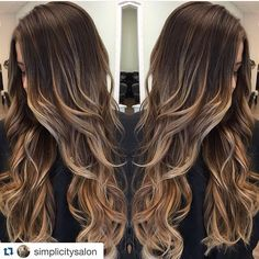 brunette hair Hair brunette long haircolor Ideas for 2019 Cabelo Ombre Hair, Blonde Ombre Hair, Brown Ombre Hair, Brunette Hair, Purple Hair, Brown Hair Caramel Balayage, Balayage Hair Brunette Long, Ombre Hair Color For Brunettes, Nails Short