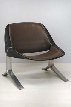 Knut Hesterberg; Aluminum Base Easy Chair, 1970.