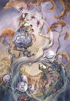 Stephanie Pui-Mun Law - Shadowscapes - Fantasy Art Shadowscapes - Fantasy Art /Inspiración Violeta Pasteles @diariodeltraje #moda