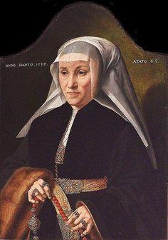 (158) 트위터 KanatlarımVarBenim @angell_bird  19분19분 전 Bartholomäus Bruyn the Elder (1493-1555) A Woman with sleeves lined with fur