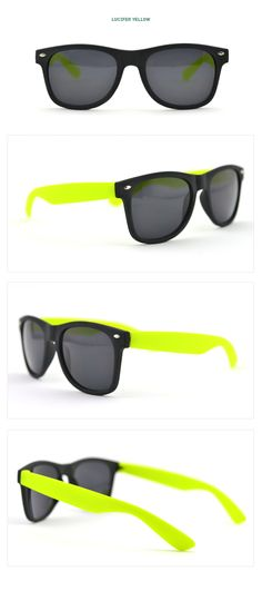 #Classic wayfarer style neon color sunglasses suit your face colorful glasses Visit - FUNMEMO.COM to see More