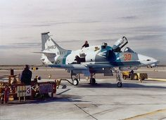 A-4M Skyhawk VF-126 being serviced at NAS Miramar c1991