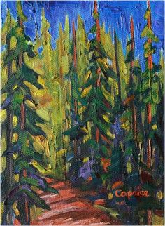 """'Into the Forest', oil on canvas, 8""""X6"""", unframed, available for sale from www.capriceartstudio.com"""