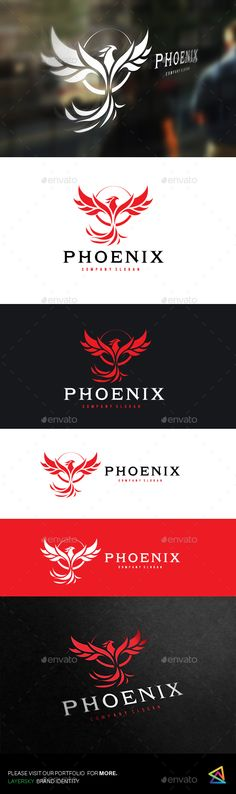 Phoenix  Logo #bird #flame • Download ➝ https://graphicriver.net/item/phoenix/18371844?ref=pxcr