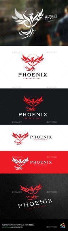Phoenix  Logo #bird #flame • Download ➝ https://graphicriver.net/item/phoenix/18371844?ref=pxcr