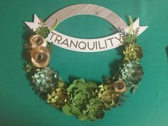 Close To My Heart - Beautiful Welcome Wreath - Only available in January. National Papercrafting Month. CTMH.