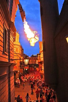 Dragon action in Diagon Alley 2014 - can't wait to go back and see the new park! Harry Potter Props, Harry Potter Love, Harry Potter Universal, Harry Potter World, Universal Orlando, Universal Studios, Harry Hermione Ron, Gatlinburg Vacation, Hotels For Kids