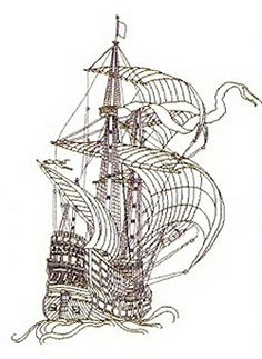 Thea Gouverneur Cross Stitch, Galleon. Cross stitch and backstitch. gorgeous!