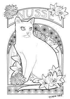 Cat Coloring Pages - 3   Cat   Pinterest   Cat colors, Cat and ...