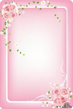Pink frame pink png photo frame with roses frames pinterest pinterest pink foral borders hibiscus flowers over white vector 46929 tropical hut border mightylinksfo Images