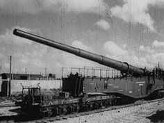 WW2 - German Railroad guns in action - World War Two military train