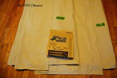 Burlap Trimmed Drop Cloth Curtains - My 1929 Charmer