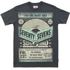 Seventyseven Gig Poster t-shirt - Vintage Black