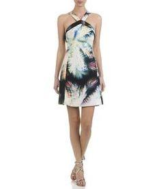 Robe imprimée Ecru SANDRO FEMME - Boutique en ligne SANDRO - Place des Tendances