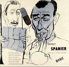 Album cover by David Stone Martin (1913-1992), ca 1947, Muggsy Spanier and his Orchestra.