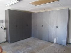 These Pewter Garage Cabinets look great!