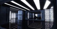 Film set design: Death star Interior