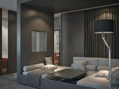 Living and Sleeping Areas Exist in Harmony in these Comfortable Studio Spaces