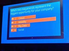 Trends: #cloud, #mobility, #bigdata and #social - #WPC14 - #raona #microsoft #technology #tecnologia #ms #partner