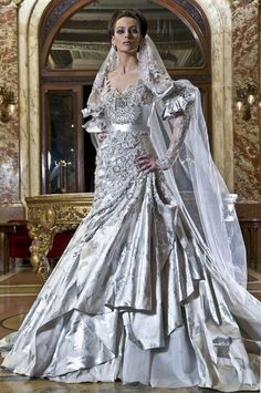 Wedding Dresses by Abed Mahfouz 2013.  Might be something I could make for a period style outfit.