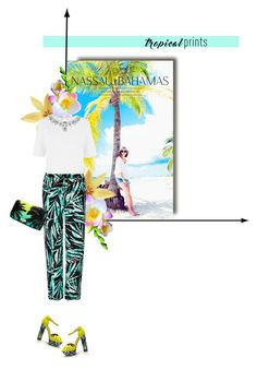 """""""Tropicana"""" by closertocris ❤ liked on Polyvore featuring BCBGMAXAZRIA, Warehouse and Victoria's Secret"""