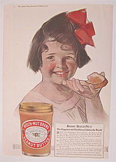 1917 Beech Nut Peanut Butter W/ Little Girl & Bread