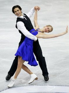 Weaver and Poje of Canada perform during the ice dance short dance programme at the ISU Grand Prix of Figure Skating Rostelecom Cup in Mosco...