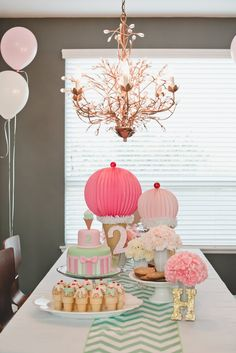 Pastel Ice Cream Parlor Themed Birthday Party via KarasPartyIdeas.com
