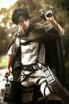The best Rivaille / Levi cosplay - Attack on Titan - . - The best cosplay of Rivaille / Levi – Attack on the Titans – - Levi Cosplay, Cosplay Anime, Belle Cosplay, Kawaii Cosplay, Cosplay Boy, Cosplay Pokemon, Levi Ackerman, Levi X Eren, Attack On Titan