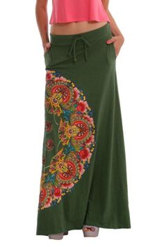 Deutschland – Kaufe einzigartige Mode online Desigual women's Jannis long skirt with side pockets. Comes with a cord to adjust the waist. Style Outfits, Cool Outfits, Fashion Outfits, Bohemian Mode, Boho Chic, Diy Clothes, Clothes For Women, Online Clothes, Estilo Boho