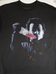 Halloween Michael Top Of Stairs Looking At You Adult T Shirt Great Classic Movie