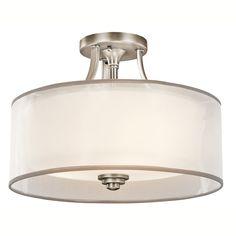 Kitchen Light Kichler Lighting 42386 3 Light Lacey Medium Semi Flush Ceiling Light - Lighting Universe