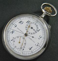 Antique GIRARD PERREGAUX Chronograph Chrono Old Pocket Watch UHREN MONTRE RELOJ #GirardPerregaux #Dress