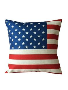 American Flag Linen Home Sofa Decorative Pillowcase - COLORMIX