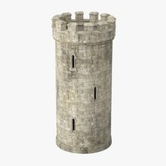 model: This Round Turret is a high end, photorealistic model, that is created to help you add the realism to your project.The model is suitable for any visual production - broadcast, high-res . Medieval Tower, Medieval Houses, Medieval Fantasy, Model Castle, Copper Tub, Fairy Houses, Doll Houses, Architecture Details, Indian Architecture